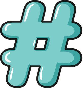 A hash symbol