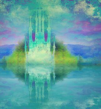 abstract fairytale castle