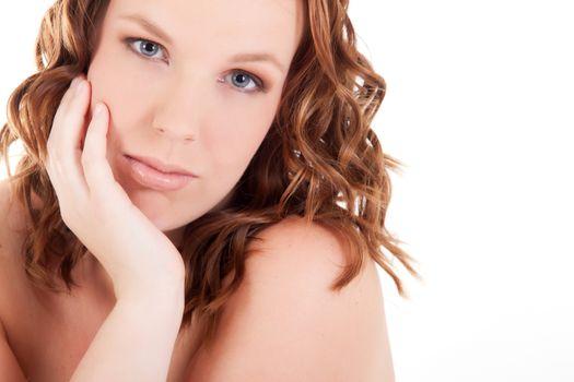 Beaufifull girl in the studio some cosmetic shots
