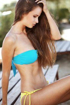 Fashion model beach series