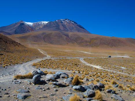 Dusty roads of altiplano
