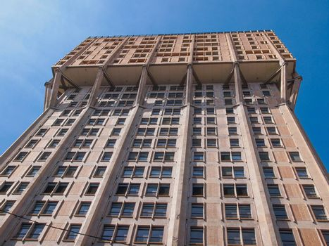 The Torre Velasca designed in 1955 by BBPR is a masterpiece of Italian new brutalist architecture