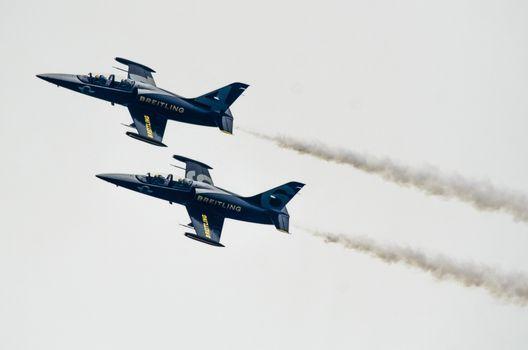 ROVINJ, CROATIA - APRIL 13 2014 at Red Bull Air Race airplane show