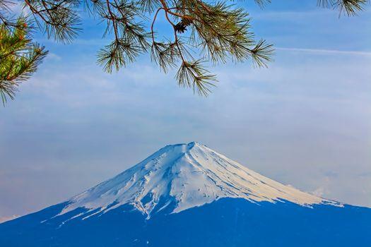 Mt Fuji in the spring seen from Kawaguchiko