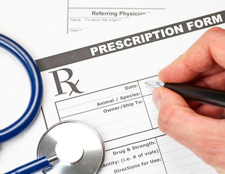 Veterinarian prescription form