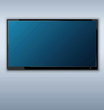 tft tv hanging on the wall background