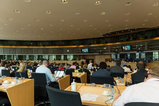 Inside the European Parliament - Brussels, Belgium