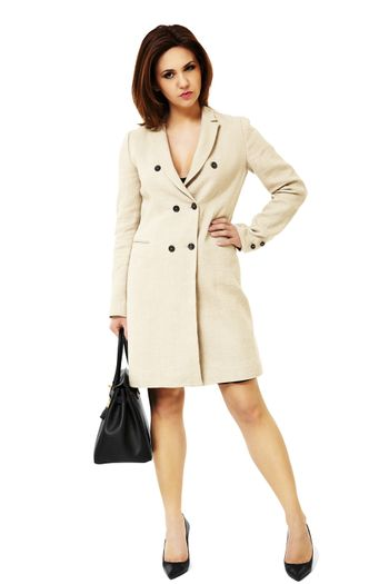 Pretty business woman with black bag