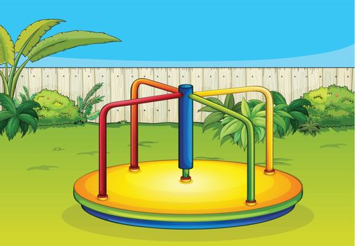 A merry-go-round playing equipment