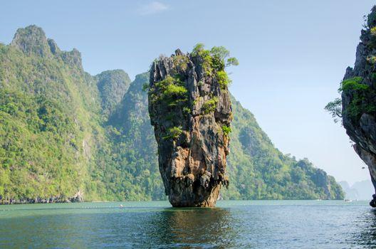 Island in Phuket, Thailand . James Bond island geology rock form