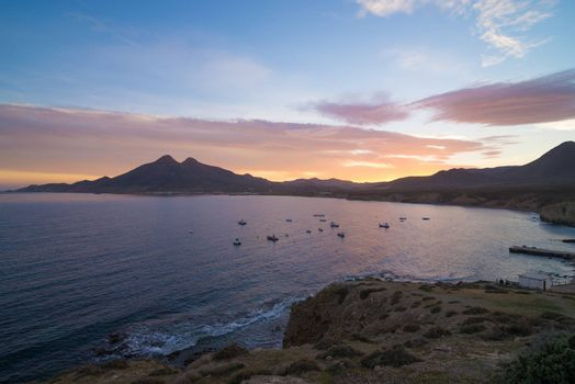 Isleta del Moro bay at dawn, Cabo de Gata, Andalusia