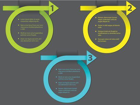 Curling arrow infographic design