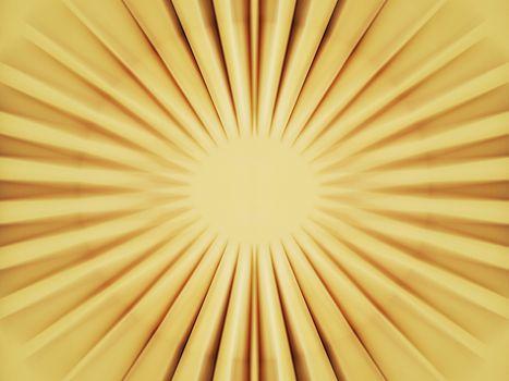 Bright yellow sun core fueling power