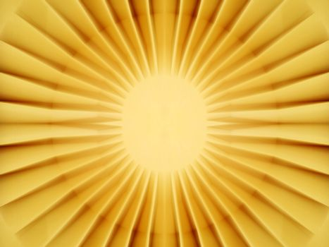 Bright yellow sun core shining