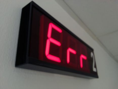 Examination room number display, night