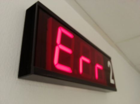Examination room number display, day