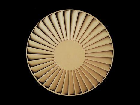 Ceiling ventilation circular fan isolated