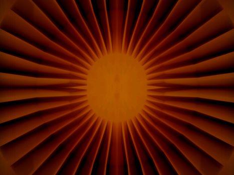 Bright inner core structure, red sun