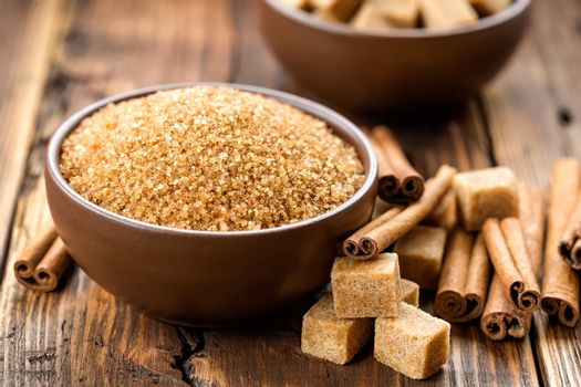 Sugar and cinnamon