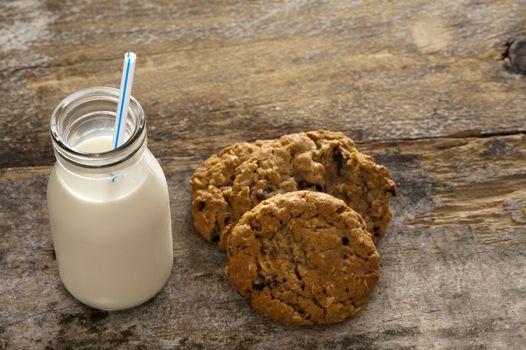 Milk and cookies childhood treat