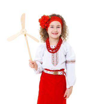 ukrainian girl in national...