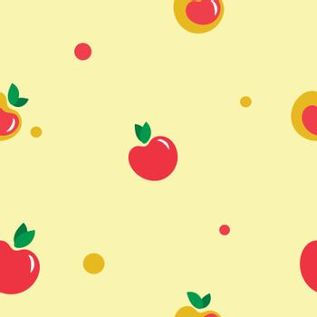 Yellow and red apples on light background.