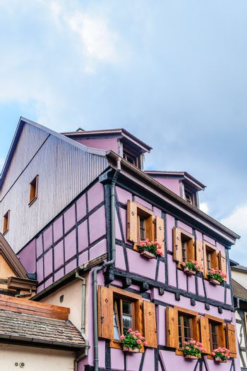 half timbered house in alsace