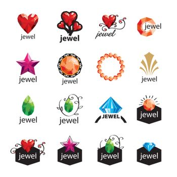 collection of modern vector logos jewelry