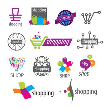 collection of vector logos shopping discounts and stores