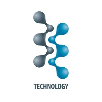 Technology logo in the form of atoms