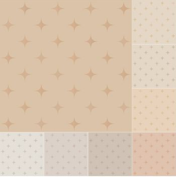 seamless stars pattern on recycled paper, cardboard with pastel gradient