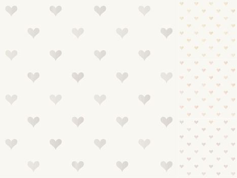 seamless heart pattern with shiny gradient