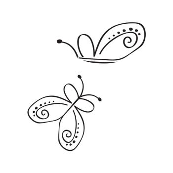 collection of stylized butterfly