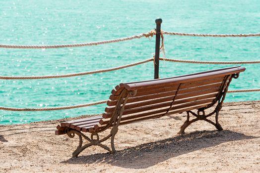 Bench overlooking ocean