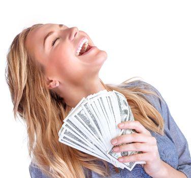 Happy owner of money