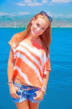 Cute teen on summer vacation