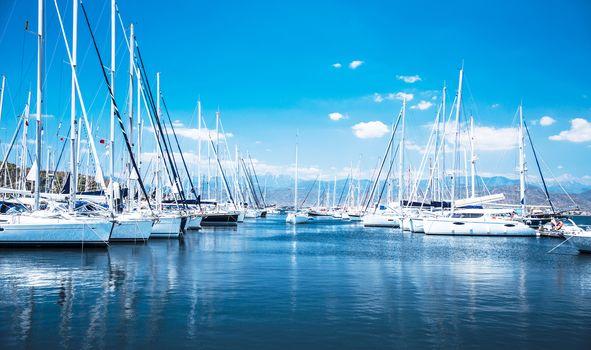 Sail boat harbor