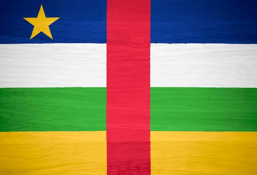 Central African Republic flag on wood texture