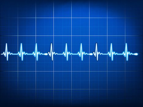 Abstract heart beats cardiogram. EPS 10 vector file included