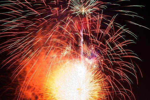 Fireworks light at chonburi city