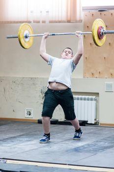 ORENBURG, ORENBURG region, RUSSIA, February 2, 2014 year, Orenburg oblast Championship weightlifting