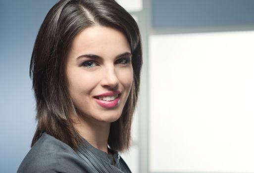Beautiful woman close-up