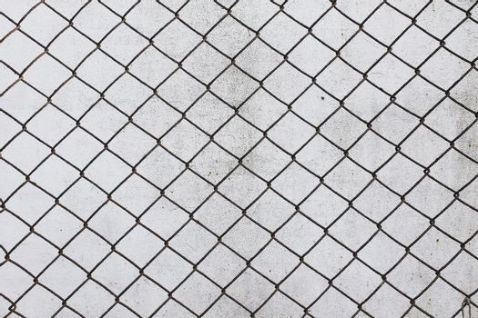 grid cell background old rusty metal mesh wire