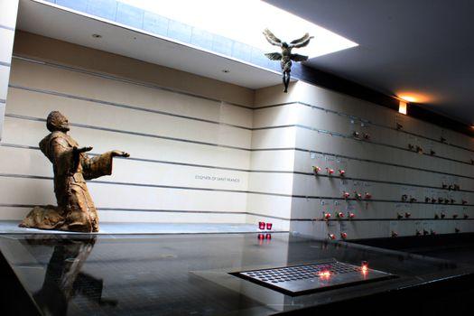 sculpture at St Mary of angels, Bukit Batok, Singapore