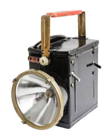Old fashioned flashlight in off state