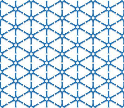blue triangular grid