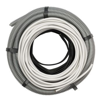 Flexible hose and electric cable