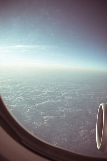View through the aircraft window.