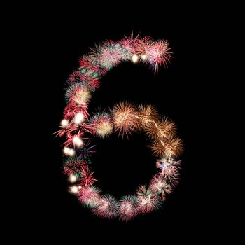 fireworks or firecracker of arrangement to be at number six.