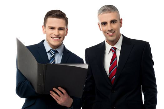 Young businessmen working together